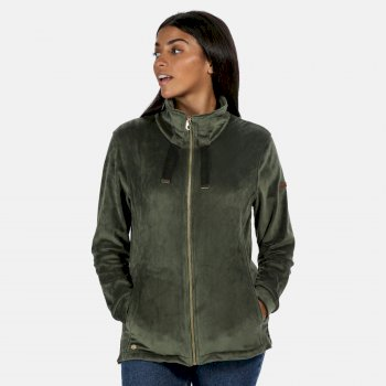 Regatta Women's Odelia Full Zip Heavyweight Fleece - Thyme Leaf