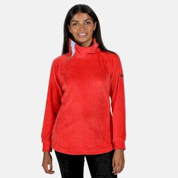 Cliona Velour-Sweatshirt für Damen Rot