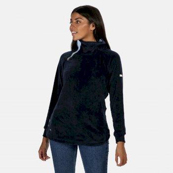 Cliona Velour-Sweatshirt für Damen Blau