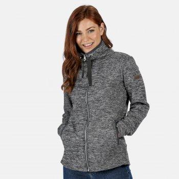 Evanna leichtes Fleece mit durchgehendem Reißverschluss für Damen Grau