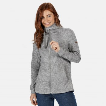 Regatta Women's Evanna Full Zip Lightweight Fleece - Rock Grey