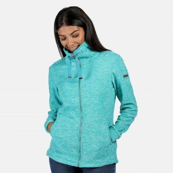 Evanna leichtes Fleece mit durchgehendem Reißverschluss für Damen Blau