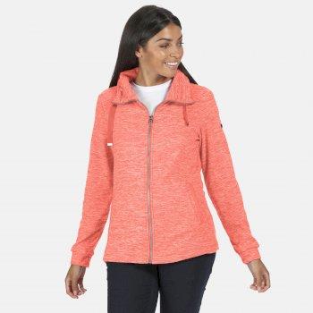 Evanna leichtes Fleece mit durchgehendem Reißverschluss für Damen Orange