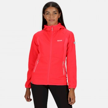 Regatta Women's Terota Full Zip Hooded Fleece - Neon Pink