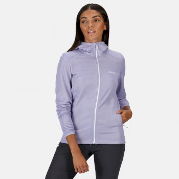 Regatta Women's Terota Lightweight Full Zip Hooded Fleece - Lilac Bloom