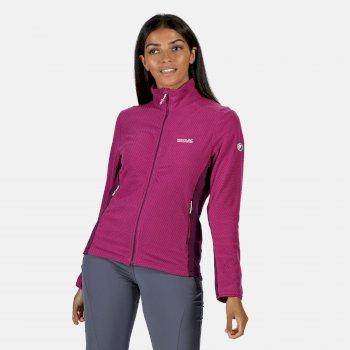 Highton leichtes Fleece mit durchgehendem Reißverschluss für Damen Violett