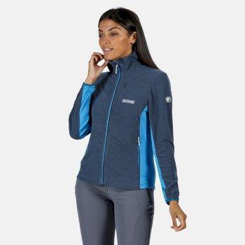Highton leichtes Fleece mit durchgehendem Reißverschluss für Damen Blau
