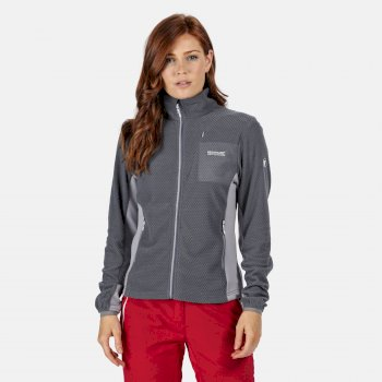 Regatta Women's Highton Lightweight Full Zip Fleece - Onyx Grey Dapple