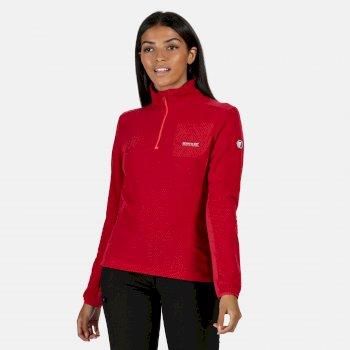 Highton leichtes Fleece mit halbem Reißverschluss für Damen Rosa