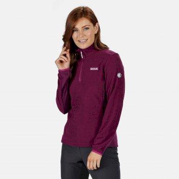 Highton leichtes Fleece mit halbem Reißverschluss für Damen Violett