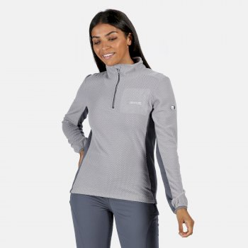 Regatta Women's Highton Lightweight Half Zip Fleece - Dapple Onyx Grey