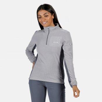 Highton leichtes Fleece mit halbem Reißverschluss für Damen Grau