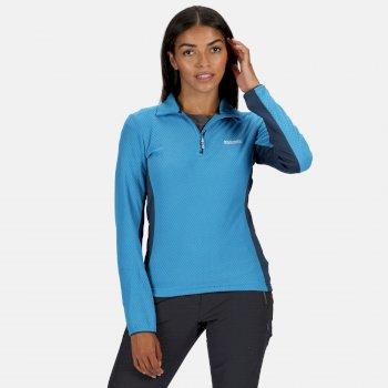Highton leichtes Fleece mit halbem Reißverschluss für Damen Blau