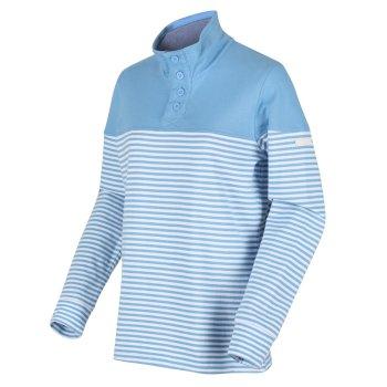 Camiola Sweatshirt mit Trichterkragen für Damen Blau