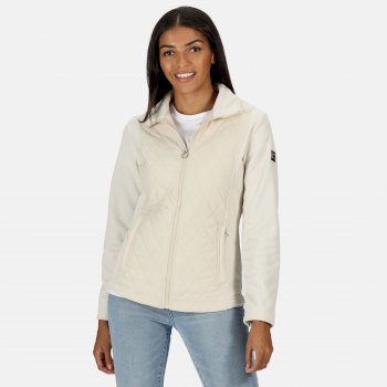 Regatta Women's Zuzela Full Zip Insulated Marl Fleece - Light Vanilla
