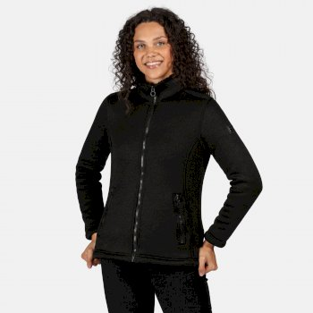 Regatta Women's Razia Full Zip Heavyweight Knit Effect Fleece - Black Black