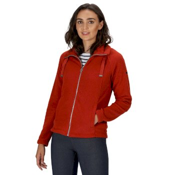 Regatta Women's Zaylee Full Zip Mid Weight Fleece - Burnt Tikka