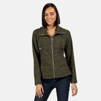 Zaylee mittelschweres Fleece mit durchgehendem Reißverschluss für Damen Grün