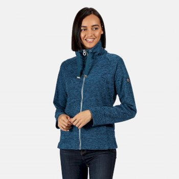 Zaylee mittelschweres Fleece mit durchgehendem Reißverschluss für Damen Blau