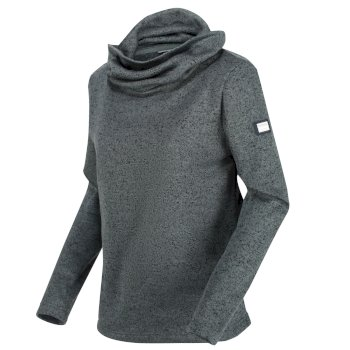 Regatta Women's Hedda Cowl Neck Knit Effect Fleece - Balsam Green