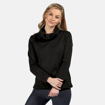 Regatta Women's Hedda Cowl Neck Knit Effect Fleece - Black