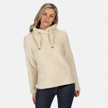 Kimberley Walsh Hannelore Overhead Fluffy Fleece - Light Vanilla Fluffy