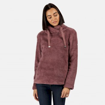 Kimberley Walsh Hannelore Overhead Fluffy Fleece - Dusky Heather Fluffy