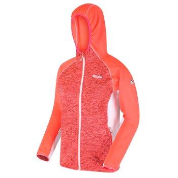 Walbury meliertes Walking-Strickfleece mit Kapuze und durchgehendem Reißverschluss für Damen Orange
