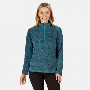 Regatta Women's Pimlo Half Zip Velour Walking Fleece - Ocean Depths