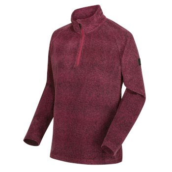 Regatta Women's Pimlo Half Zip Velour Walking Fleece - Purple Potion