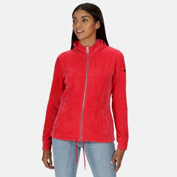 Kimberley Walsh Ranielle Full Zip Hooded Fleece - True Red