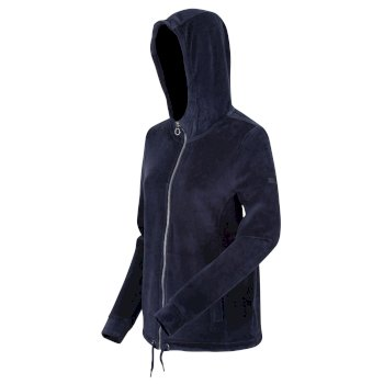 Kimberley Walsh Ranielle Full Zip Hooded Fleece - Navy