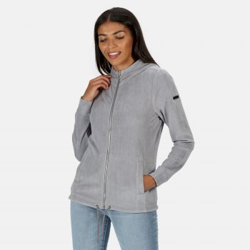 Regatta Women's Ranielle Full Zip Hooded Fleece - Rock Grey