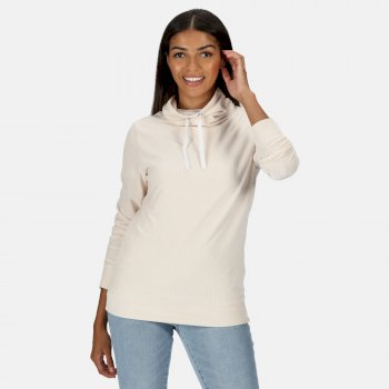Hepzibah Sweatshirt mit Wasserfallausschnitt für Damen Sahne