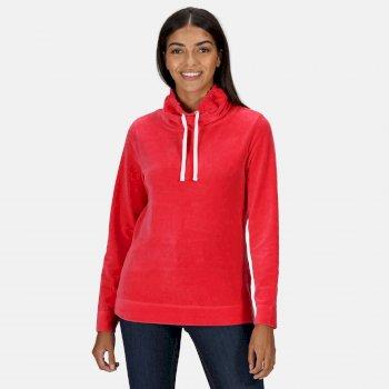 Hepzibah Sweatshirt mit Wasserfallausschnitt für Damen Rot