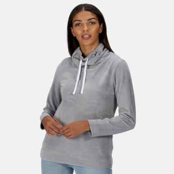 Hepzibah Sweatshirt mit Wasserfallausschnitt für Damen Grau