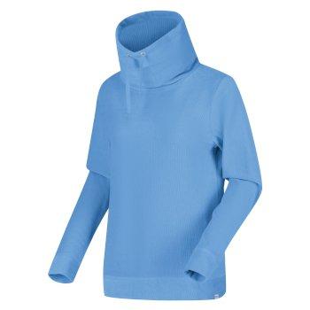 Hepzibah Sweatshirt mit Wasserfallausschnitt für Damen Blau