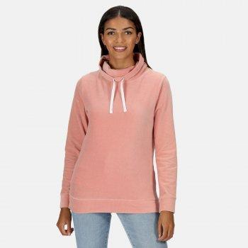 Hepzibah Sweatshirt mit Wasserfallausschnitt für Damen Rosa
