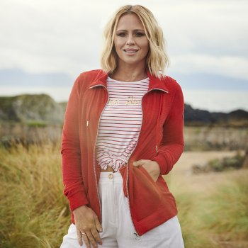 Kimberley Walsh Edlyn Full Zip Fleece - True Red