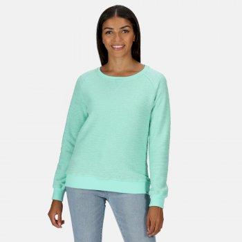 Chlarise Sweatshirt mit Rundhalsausschnitt für Damen Grün