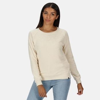 Chlarise Sweatshirt mit Rundhalsausschnitt für Damen Sahne