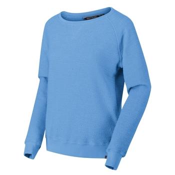 Chlarise Sweatshirt mit Rundhalsausschnitt für Damen Blau