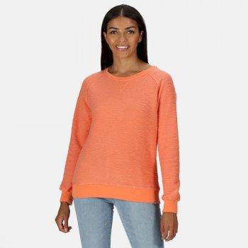 Chlarise Sweatshirt mit Rundhalsausschnitt für Damen Orange