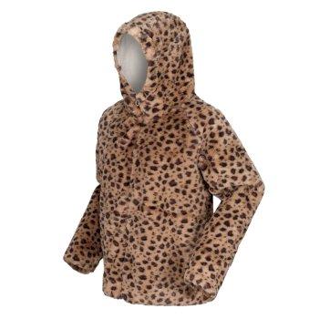 Haddie robustes Fleece mit Kapuze mit Kunstpelz und durchgehendem Reißverschluss Braun
