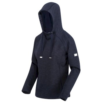 Carys leichter Kapuzenschalhoodie zum Drüberziehen für Damen Blau