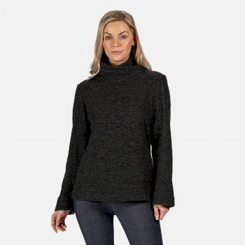Radmilla mittelschweres Fleece zum Drüberziehen für Damen Schwarz