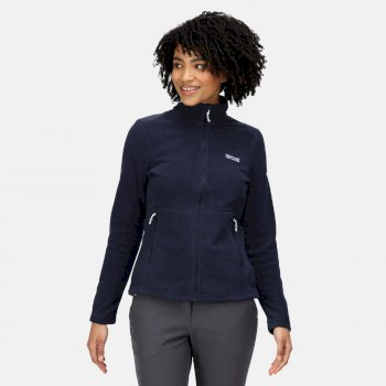 Regatta Women's Floreo III Full Zip Mid Weight Walking Fleece - Navy