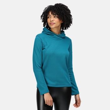 Kyrielle mittelschwerer Fleece-Hoodie für Damen Grün