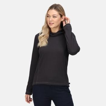 Kyrielle mittelschwerer Fleece-Hoodie für Damen Grau