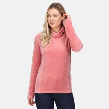 Kyrielle mittelschwerer Fleece-Hoodie für Damen Rosa